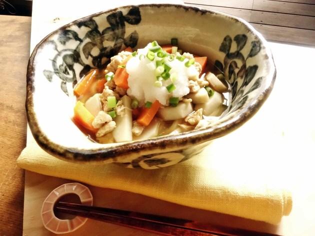 身体を内側から整える。里芋のみぞれうどん【身体が変わる!10分レシピ#8】