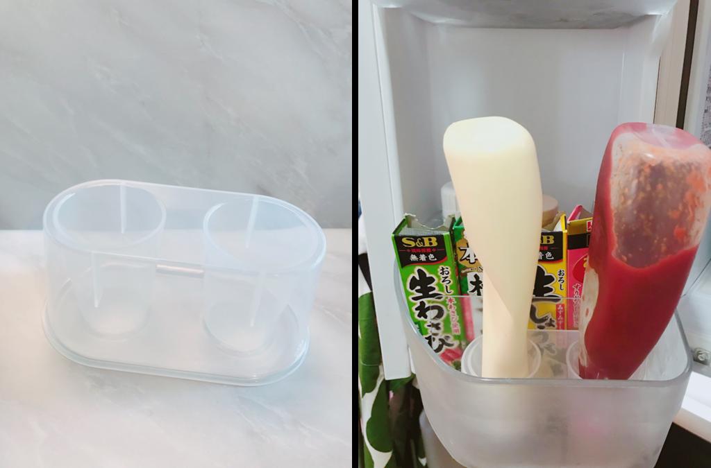 冷蔵庫ポケットにちょうどよく収まるサイズ感が嬉しい