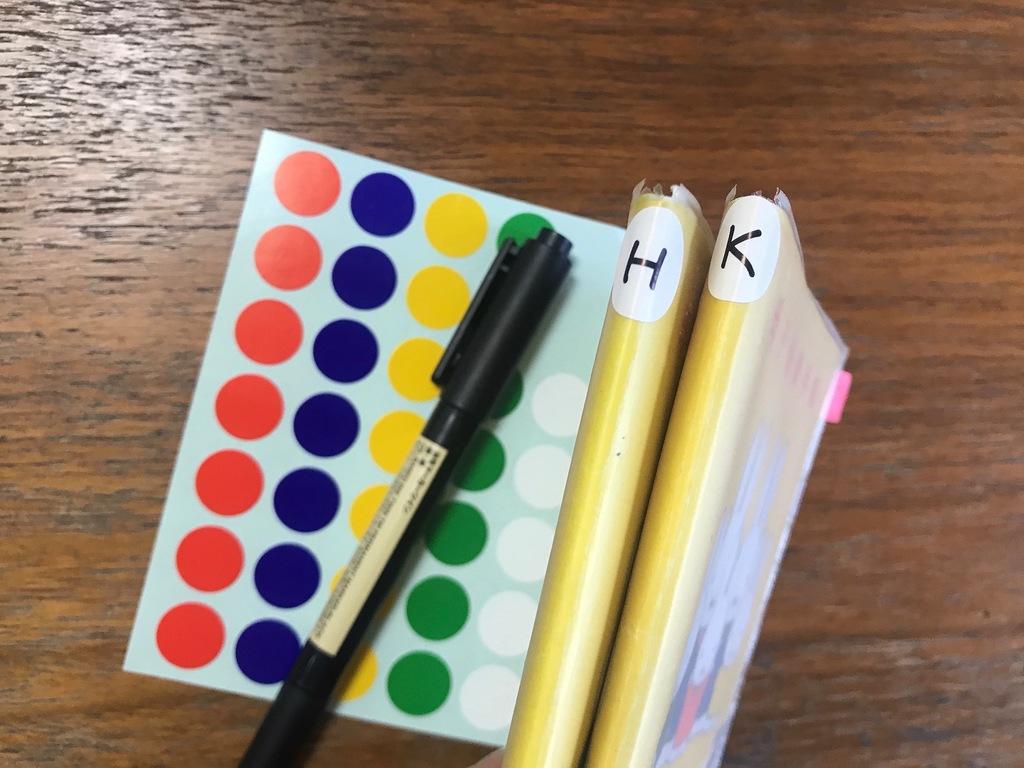 表紙が同じ手帳などにイニシャルをラベリングしておくと、取違いを防げます。