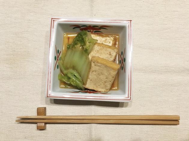 身も心もほっとして温まる。白菜と厚揚げのうま煮【男の和ごはん・減塩編その3】